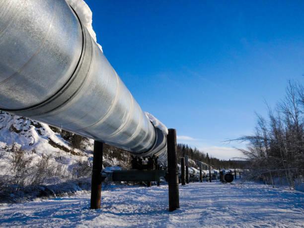 Alaska pipeline - foto stock
