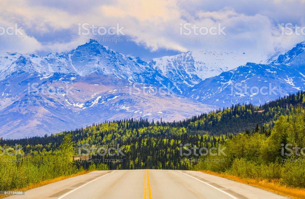 Alaska Postcard Idyll stock photo