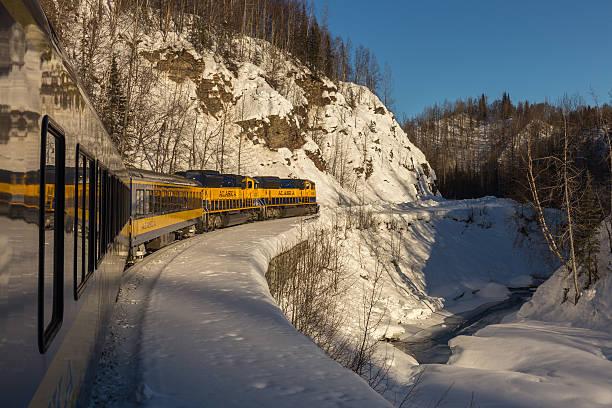 Alaska Railroad 'Aurora Train' stock photo