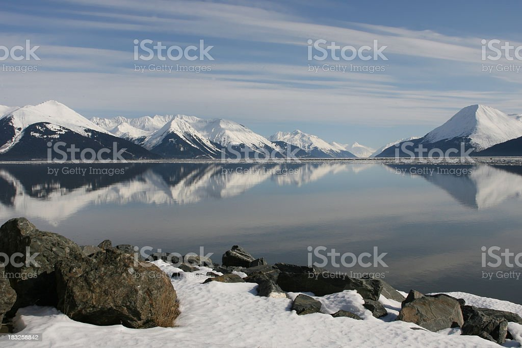 Alaska Scenic mountains royalty-free stock photo
