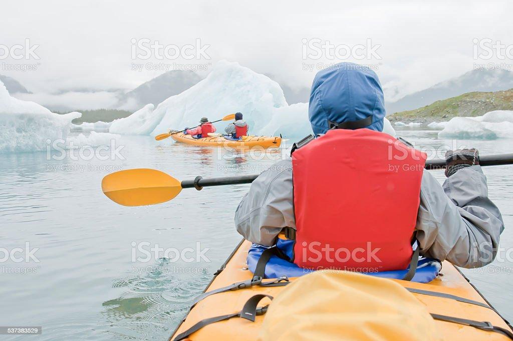 Alaska Sea Kayaking stock photo