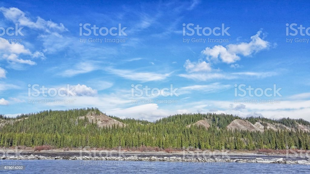 Alaska -skyline - Copper River stock photo