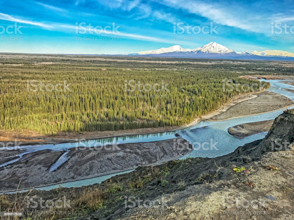 Alaska -skyline stock photo