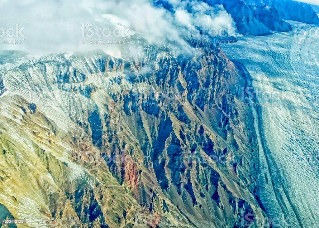 Alaska -skyline - Wrangle Mountain stock photo