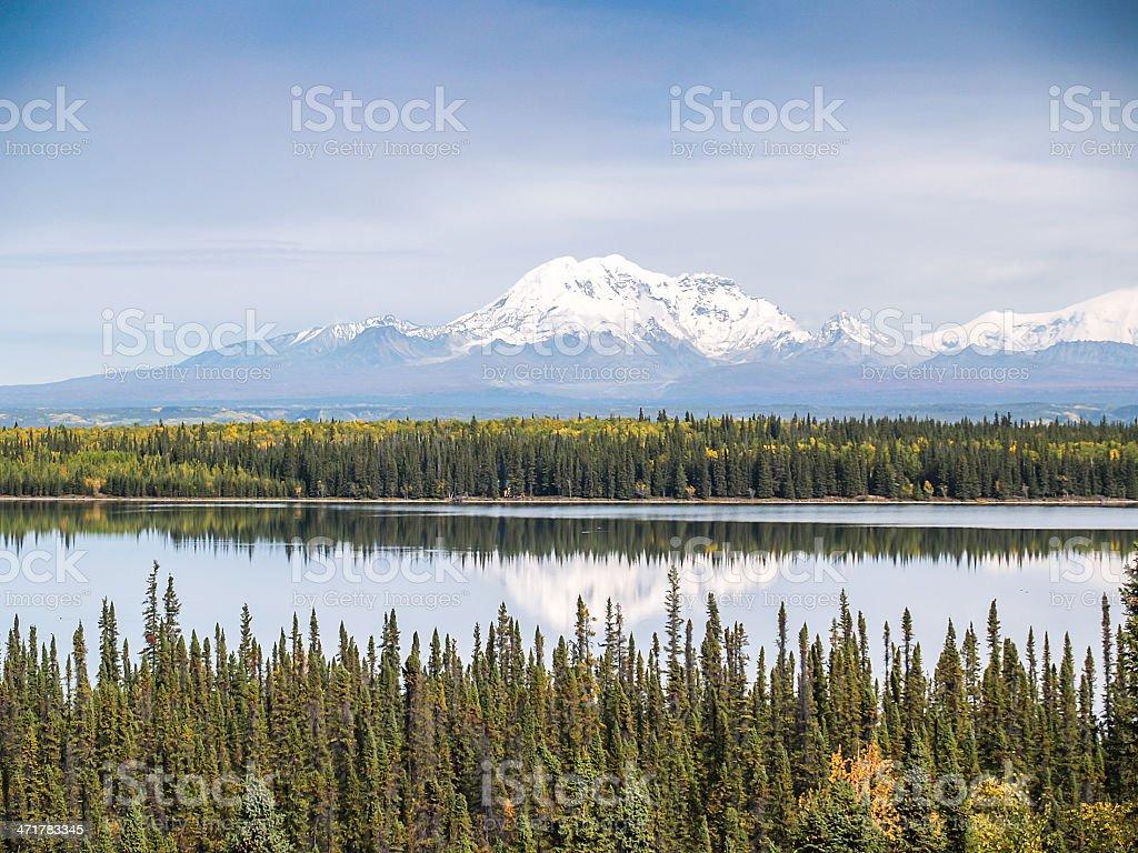 alaska snow mountain royalty-free stock photo