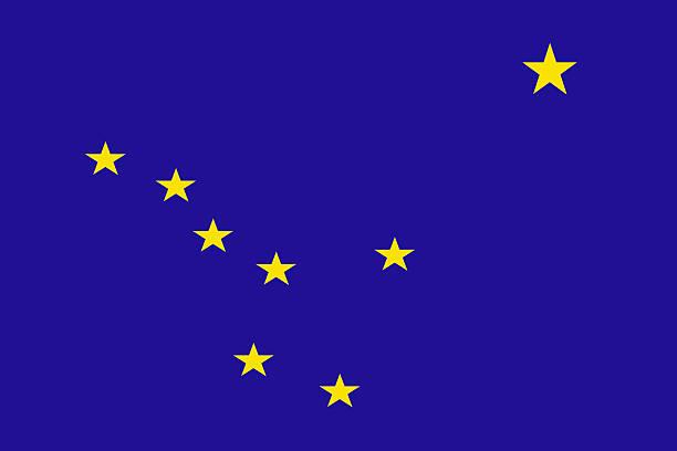 alaska state flag - alaska us state stock photos and pictures