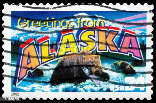 Alaska State Postage Stamp