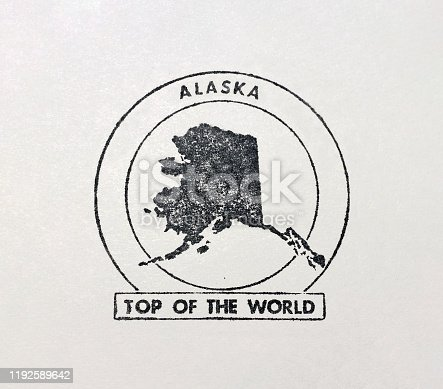 Alaska Top of the World Silhouette symbol stamp