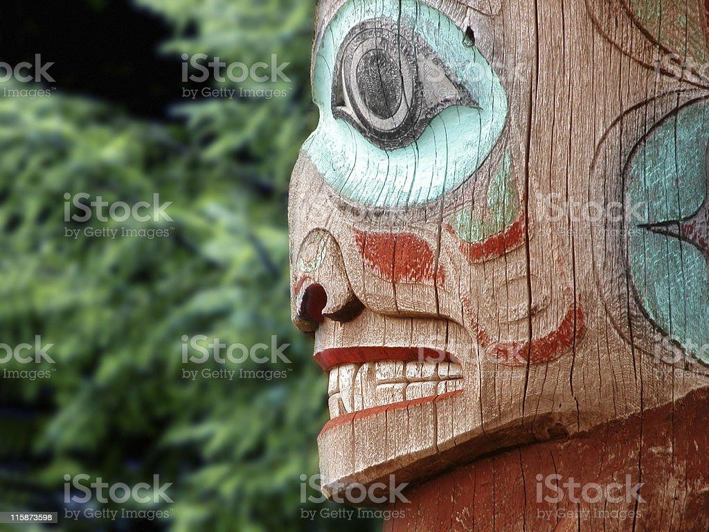Alaska Totem Pole stock photo