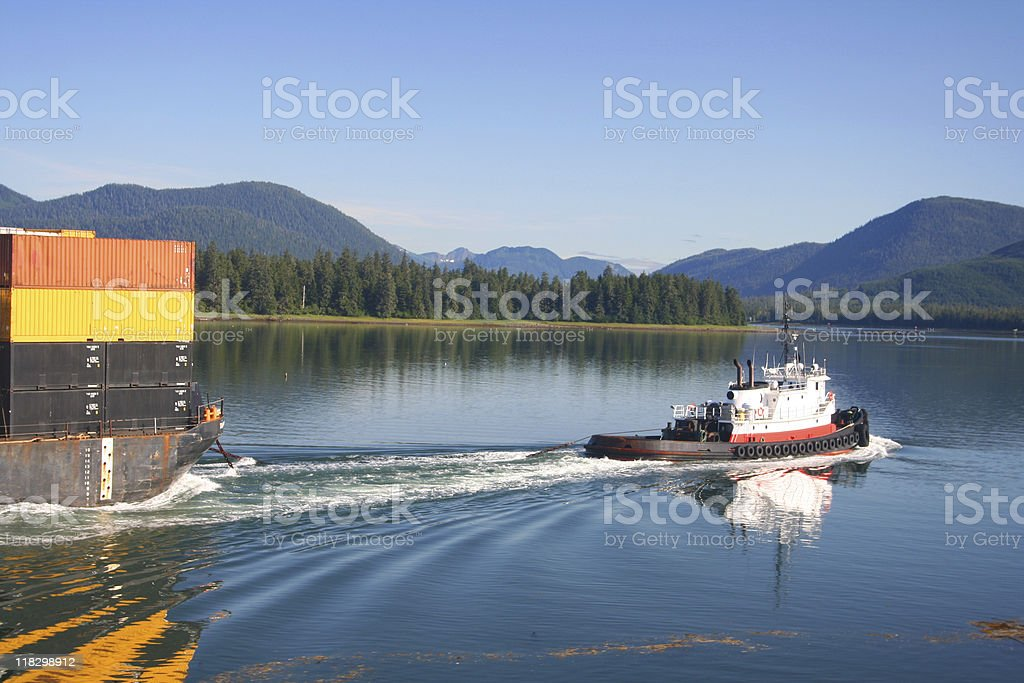 Alaska Tug and Barge stock photo