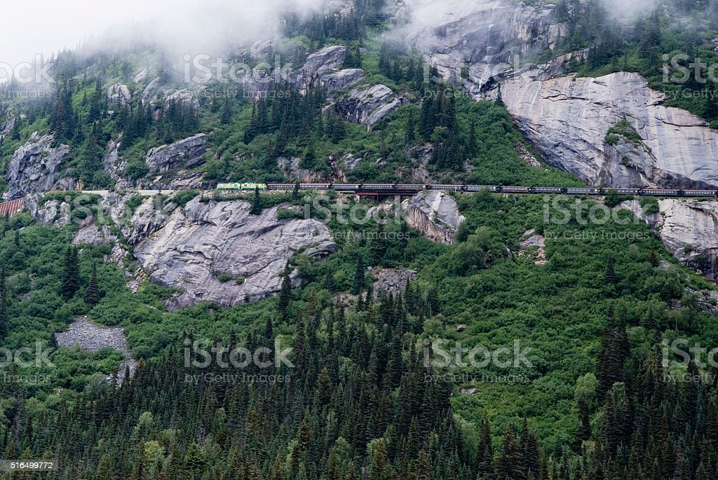 Alaska White Pass And Yukon Route Railroad Train stock photo