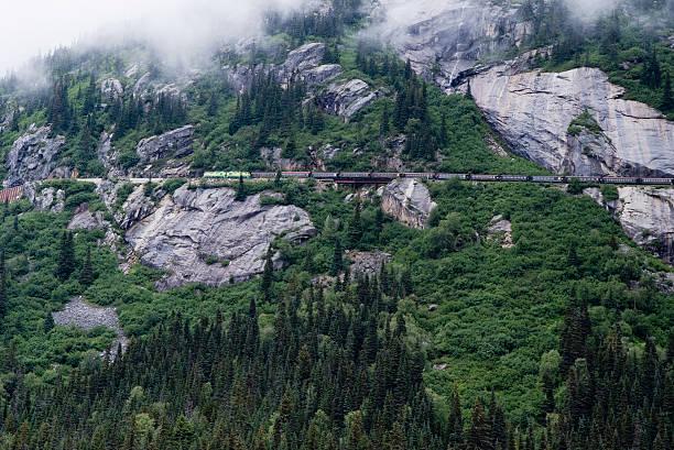 Alaska Weiß Übergeben Und Yukon Strecke Railroad, Zug – Foto