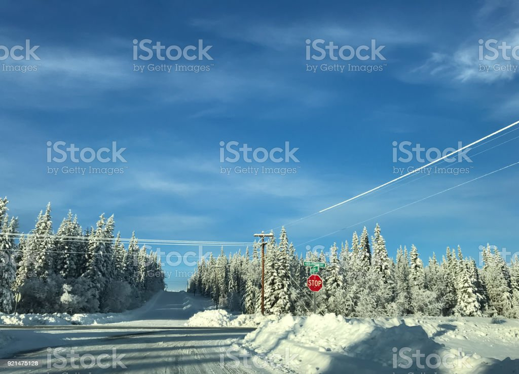 Alaska Winter Landscapes stock photo