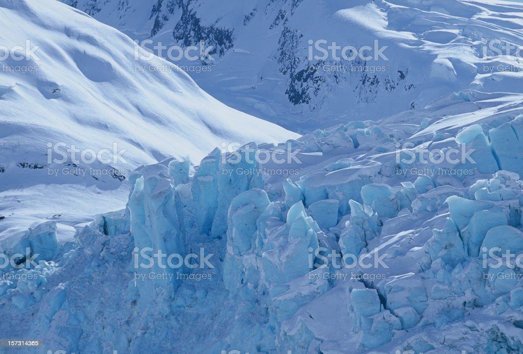 Alaskan Glacier Close-up stock photo