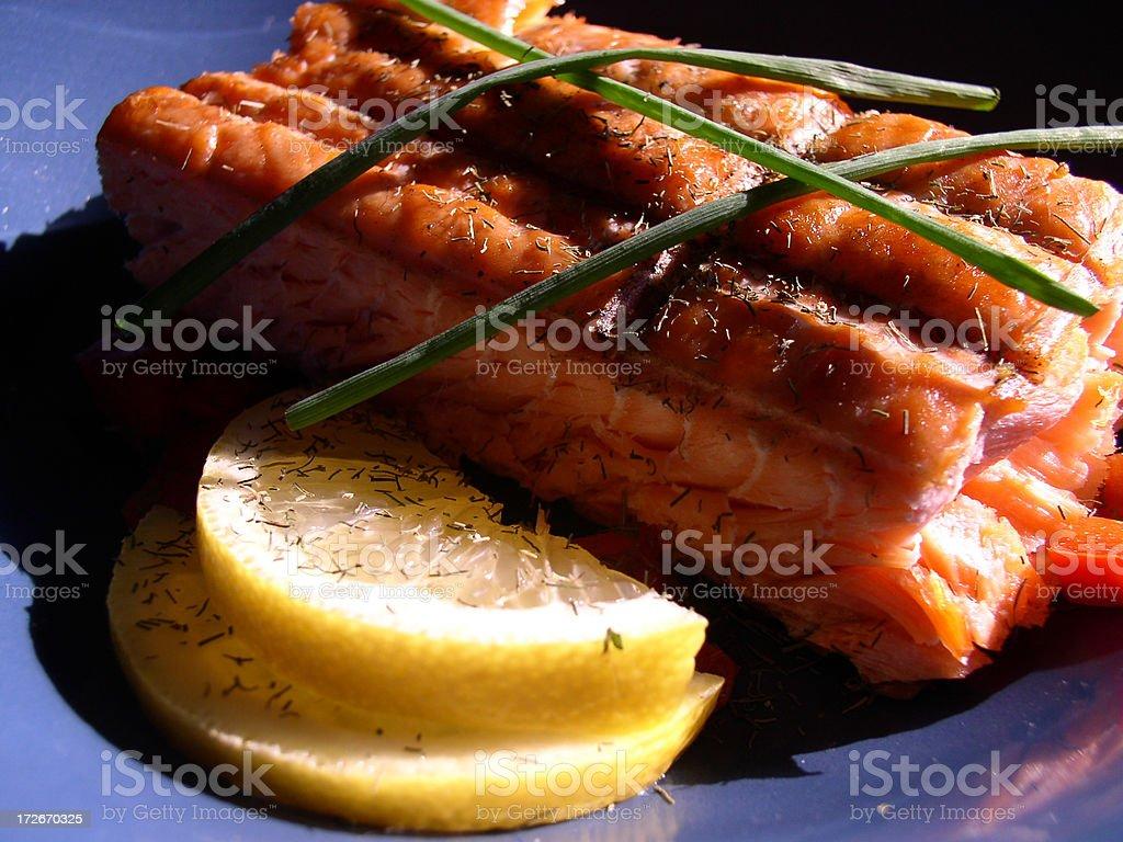 Alaskan Grilled Salmon (Part 4) stock photo