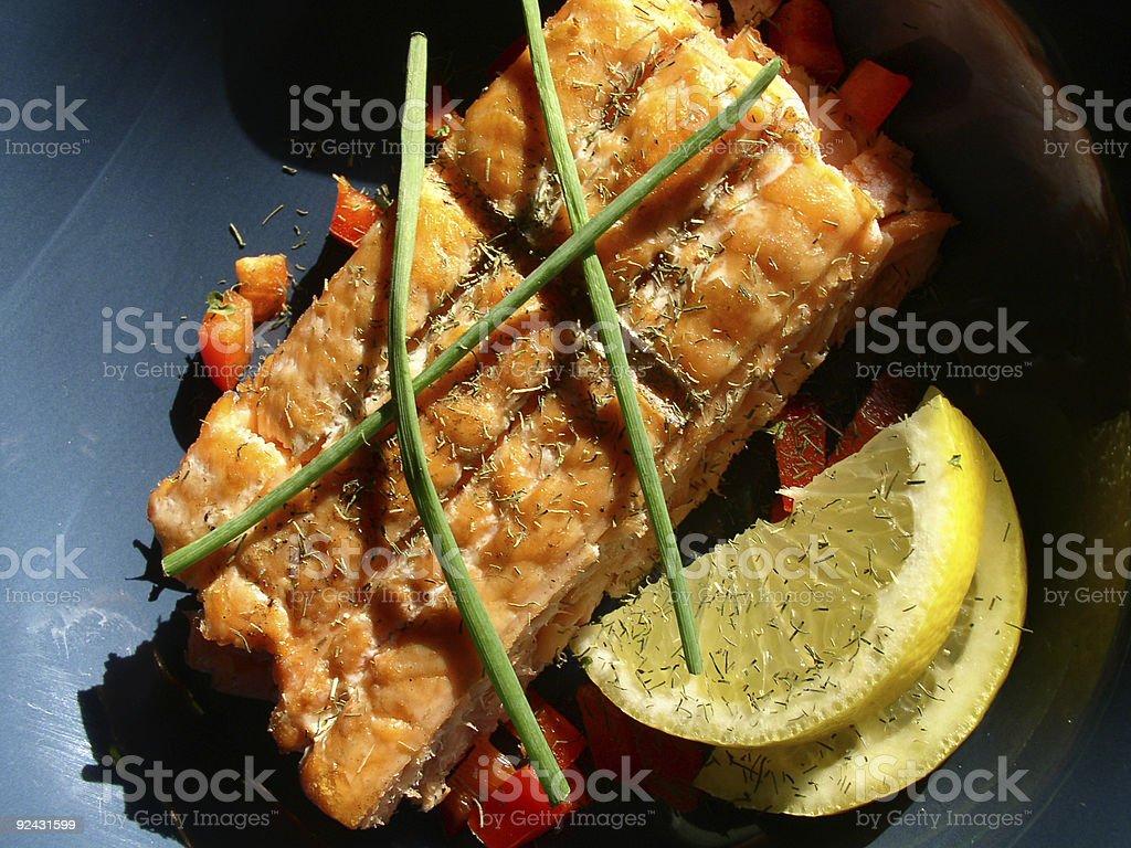 Alaskan Grilled Salmon (Part 5) royalty-free stock photo