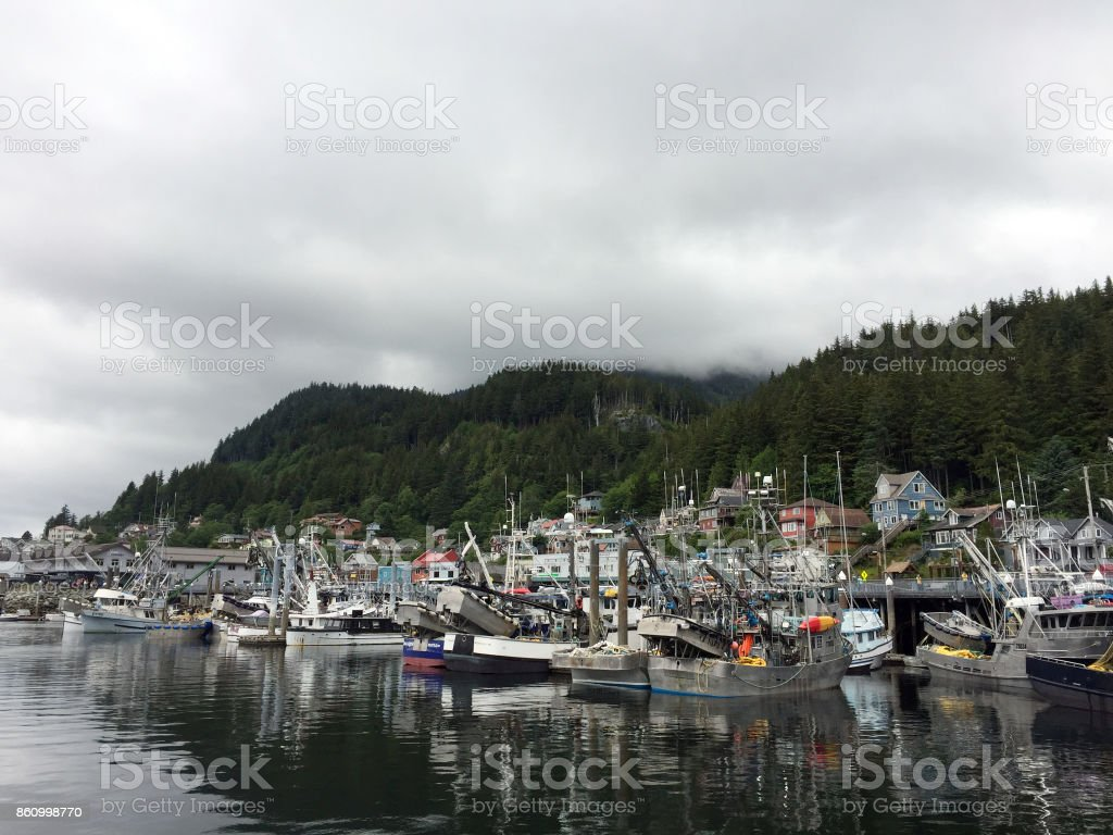 Alaskan Harbor stock photo