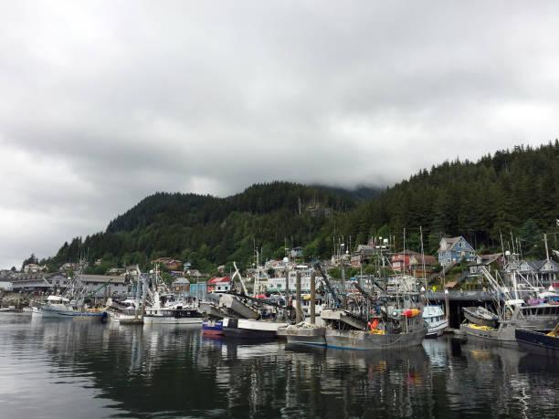 Alaskan Harbor stock photo