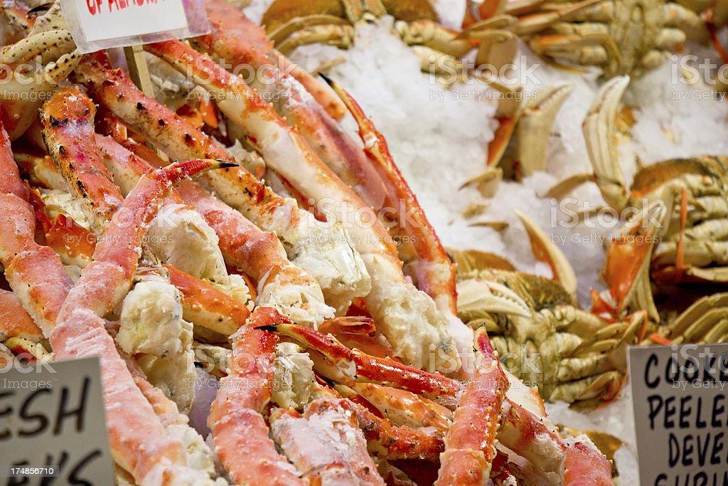 Alaskan King Crab For Sale At Fish Market Stock Photo & More
