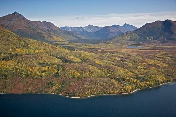 Alaskan Mountain Valley stock photo