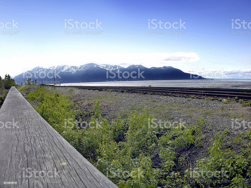 Alaskan Mountains royalty-free stock photo