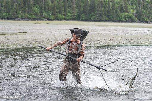 istock Alaskan net fishing! 855780092