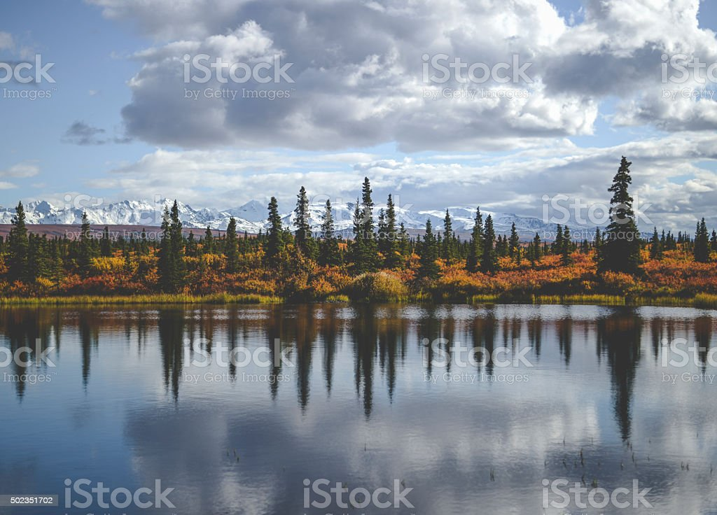 Alaskan reflection stock photo