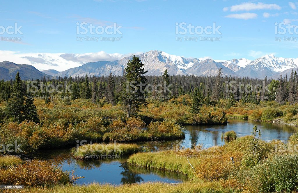Alaskan scenery stock photo