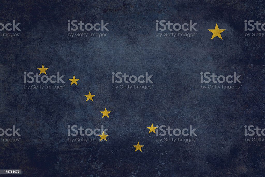 Alaskan state flag royalty-free stock photo