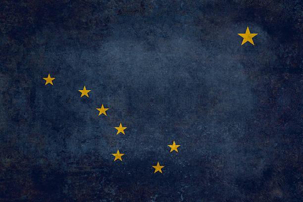drapeau de l'état de l'alaska - grande ourse photos et images de collection
