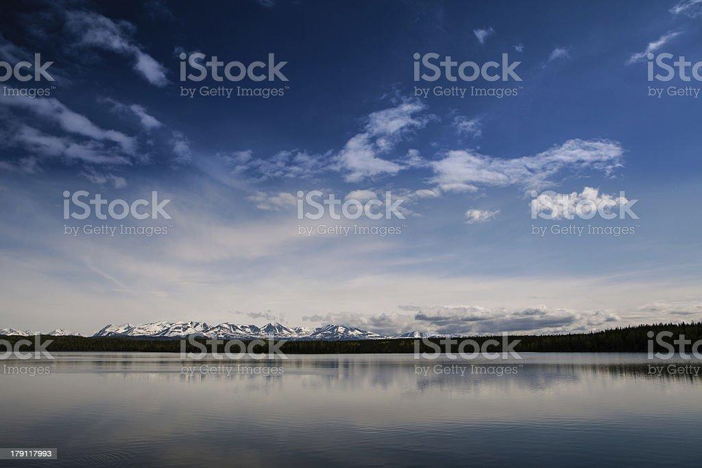 Alaskan summer landscape stock photo
