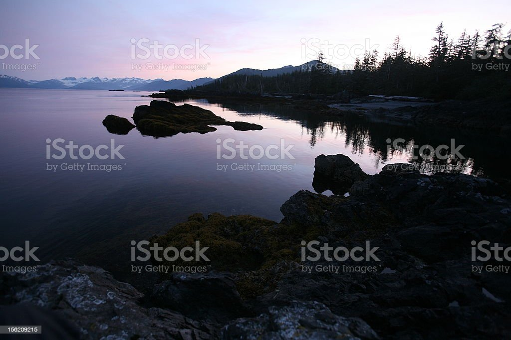 Alaskan Sunset stock photo