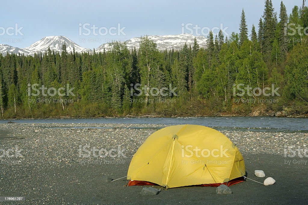 Alaskan Tent stock photo