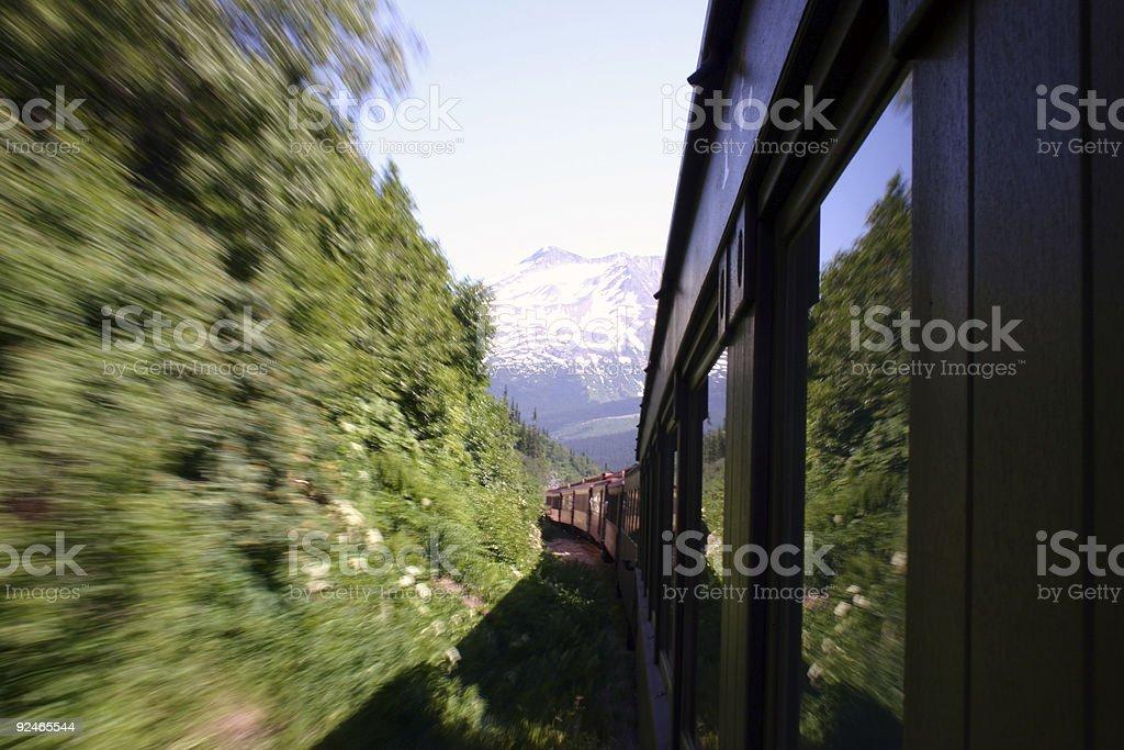 Alaskan Train (2) royalty-free stock photo