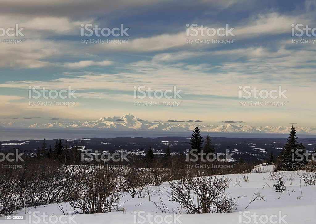 Alaskan Volcano View stock photo