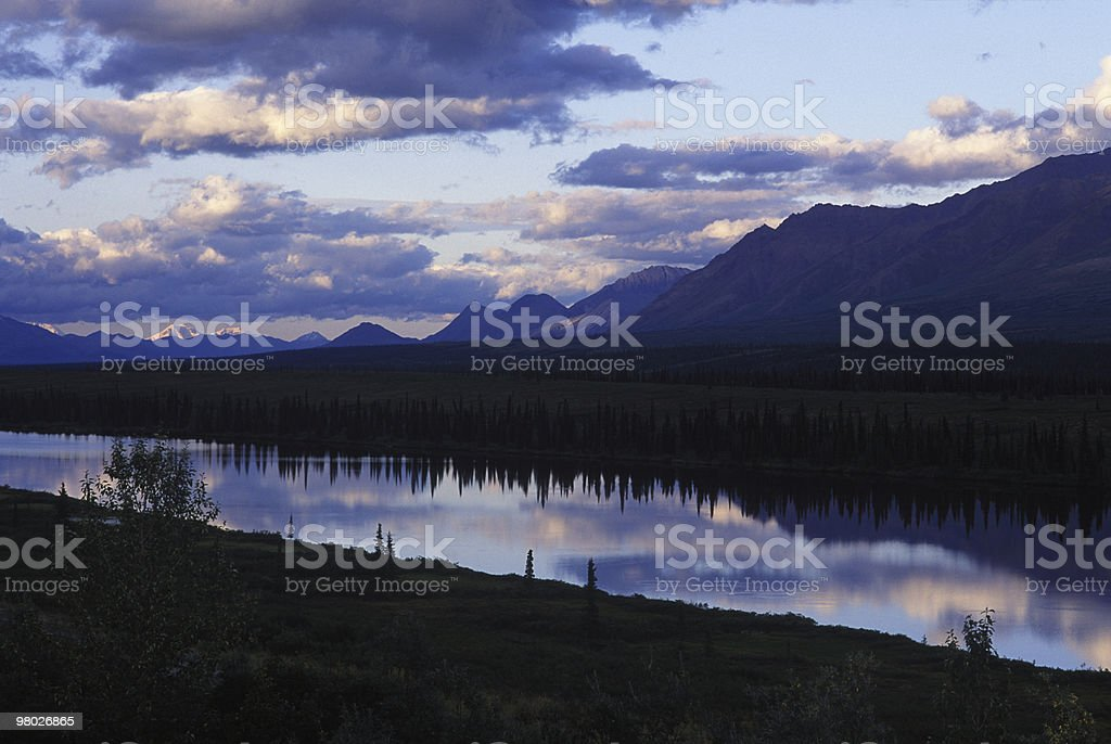 Riserva naturale dell'Alaska foto stock royalty-free