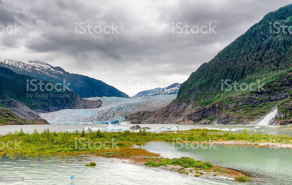 Alaska's Mendenhall Glacier in Juneau stock photo