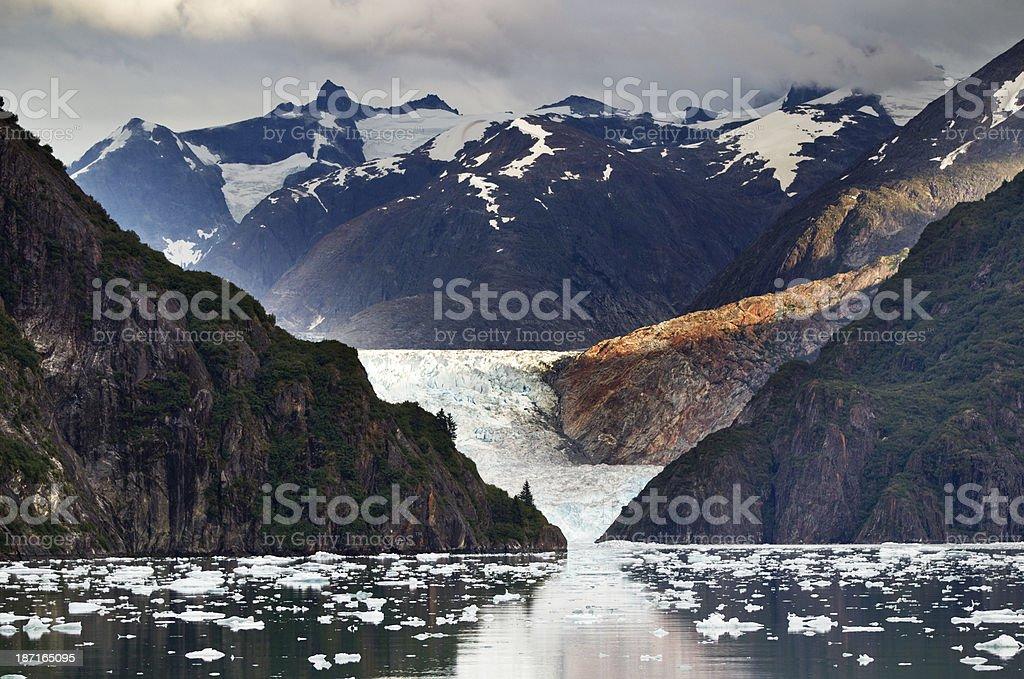 Alaska's Sawyer glacier stock photo