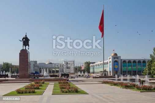 istock Ala-Too Square, Bishkek, Kyrgyzstan 458353363
