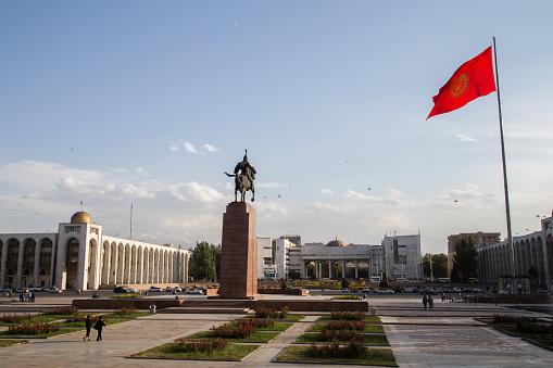 Ala-Too Square in Bishkek, Kyrgyzstan