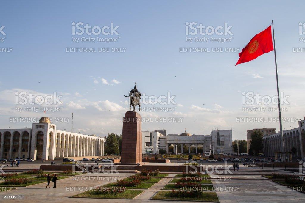 Ala-Too Square in Bishkek, Kyrgyzstan stock photo