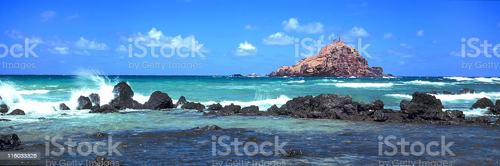 Alau Island, Hana stock photo