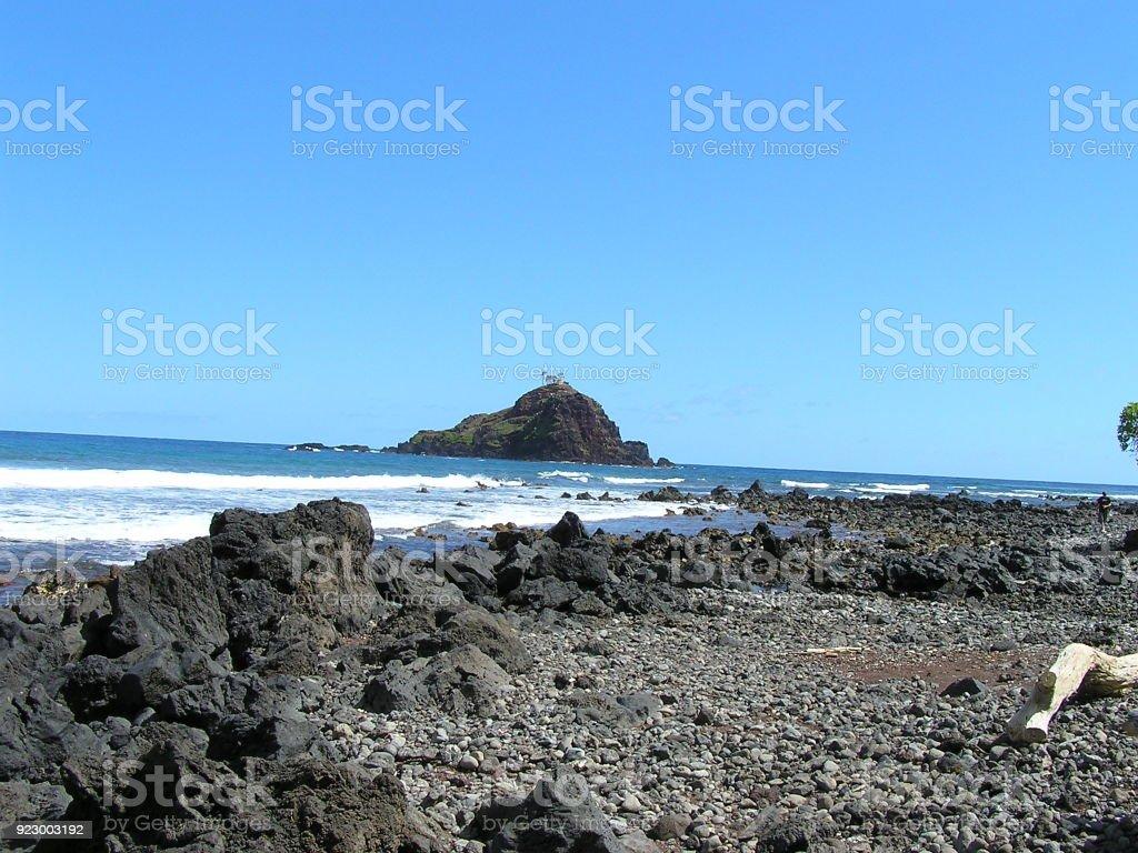 Alau Island, Koki Beach- Maui stock photo