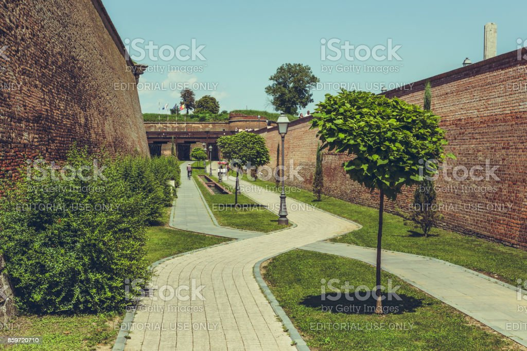 Alba Carolina Fortification Walls stock photo