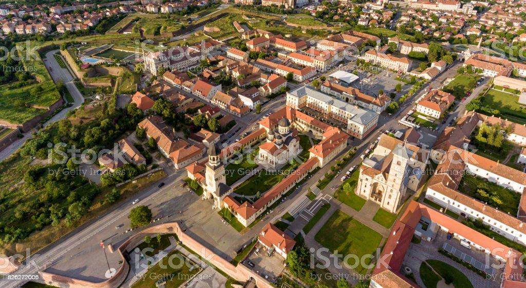Alba Iulia panorama stock photo