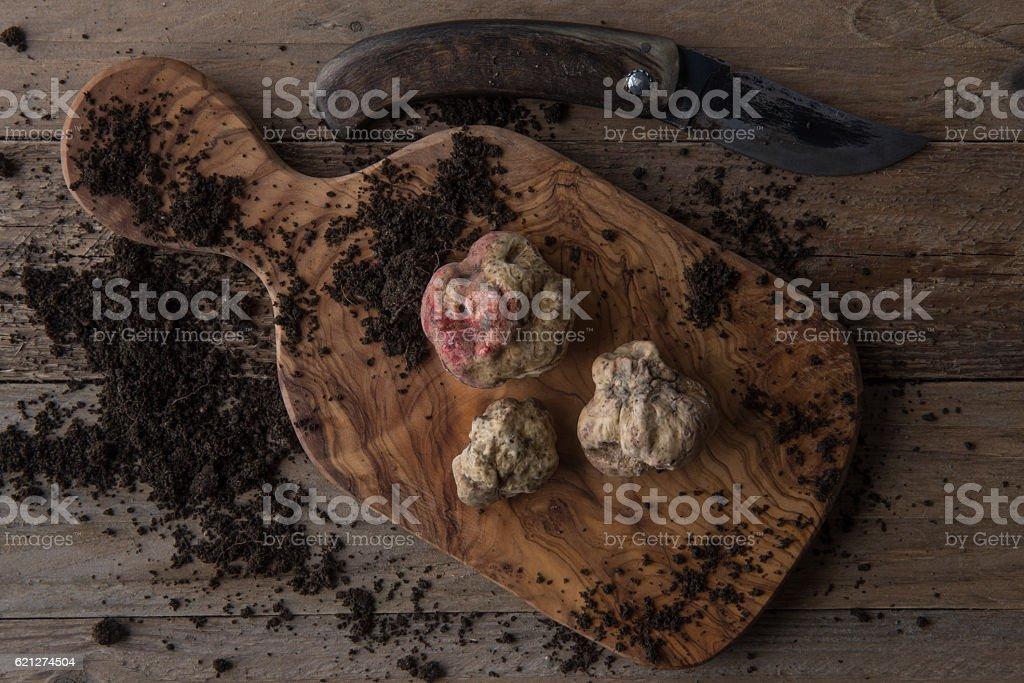 Alba white truffle stok fotoğrafı