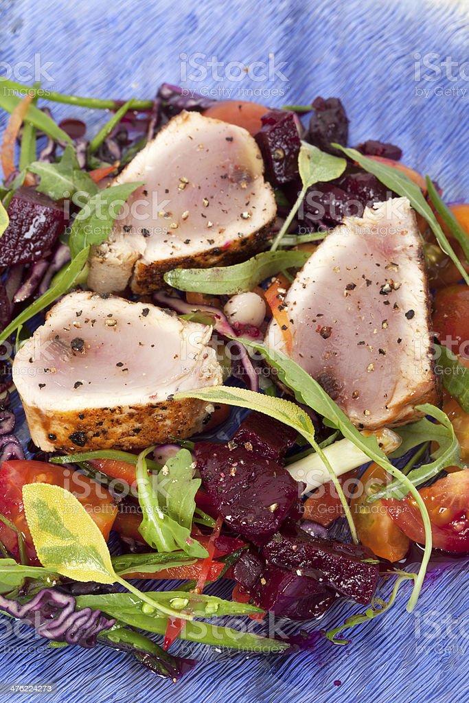 Albacore tuna salad royalty-free stock photo