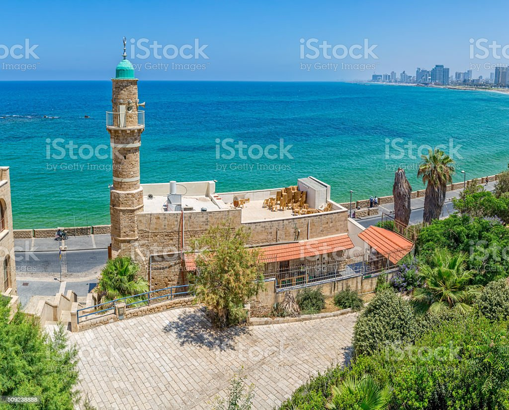 Al-Bahr Mosque Tel Aviv stock photo