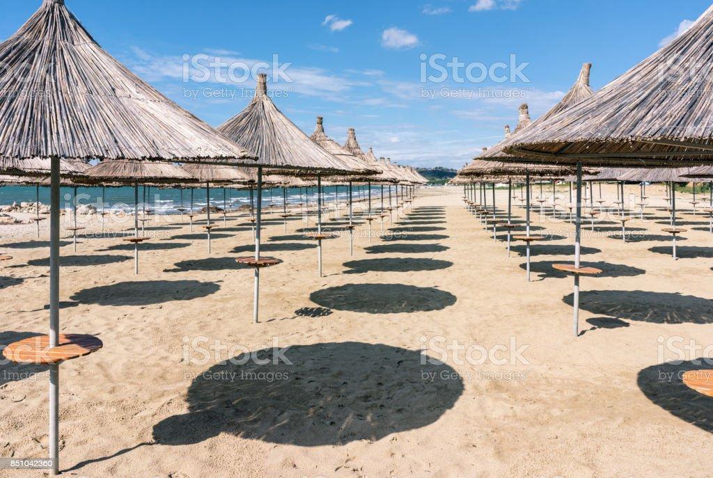 Albania. Beach in the resort area Golem. stock photo