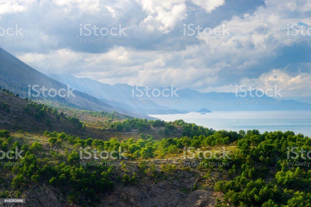 Albania Landscape stock photo